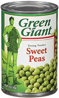 Green Giant Young Tender Sweet Peas, 15 OZ (Pack of 24)