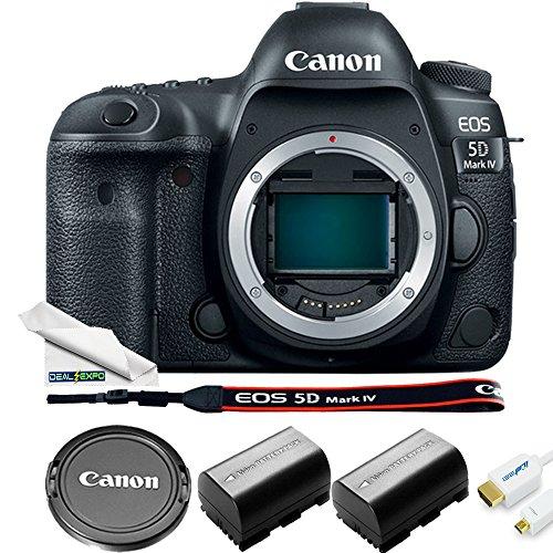 EOS 5D Mark IV DSLR Camera (Body Only) + Basic Accessories Bundle