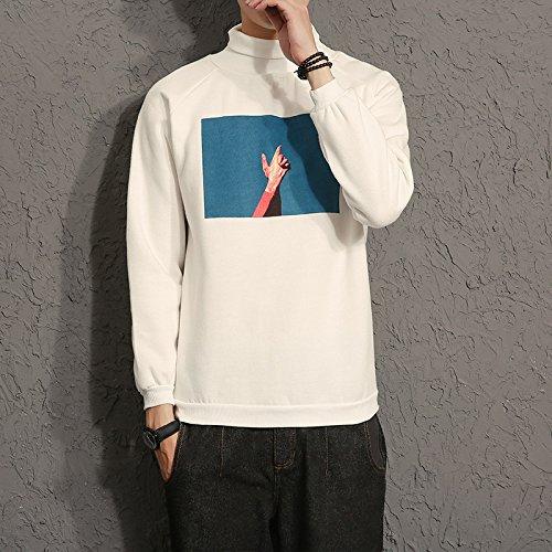 Malilove Macho De Tamaño Grande Abrigo Camiseta Sudadera Suelta 3Xl