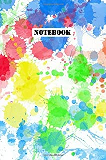 Notebook: An Abstract Paint Splotch Planner for Artists - 120 pages, 6x9