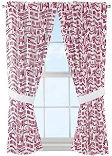 NCAA Maryland Terps Window Curtain Panels Set of 2 with Tie Backs