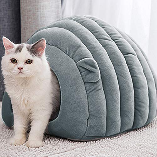 Cozy Cat Cave Bed, tenda per animali domestici, morbido e caldo pile sacco a pelo per gatti, cuccia per cani e gatti, con foro per la casa e il nido per animali domestici, lavabile con cuscino