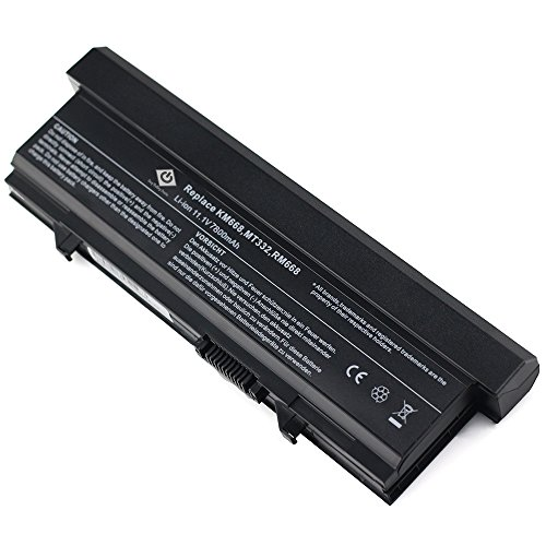 Bay Valley PartsNew Laptop Battery for Dell Latitude E5400 E5410 E5500 E5510 KM742 RM668 KM760 T749D 0P858D Li-ion 9 Cell 11.1v 7800mAh/86WH