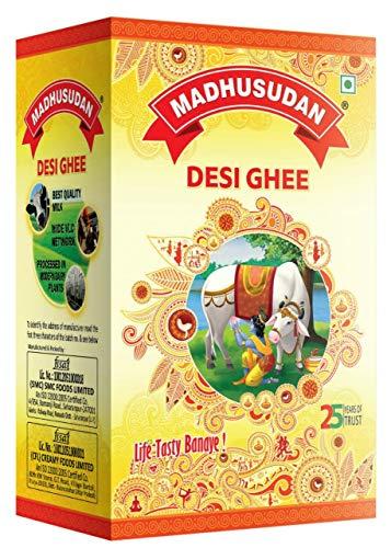 Madhusudan Pure Vegetarian Desi Ghee, 1000ml (1L,1kg)