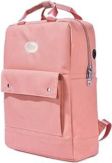 Slim School Backpack with Headphone Plug Teen Girls Middle School, 15.6 Inch Casual Travel Daypack Side Pocket, Classic Backpack for Teen, Daypacks Rucksack Bookbags (Color : Orange)