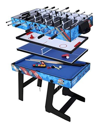 Umi. Essentials 5 in 1 zusammenklappbarer Spieltisch für Fußballspiel/Hockey/Tischtennis/Pool(Billard) / Basketballspiel