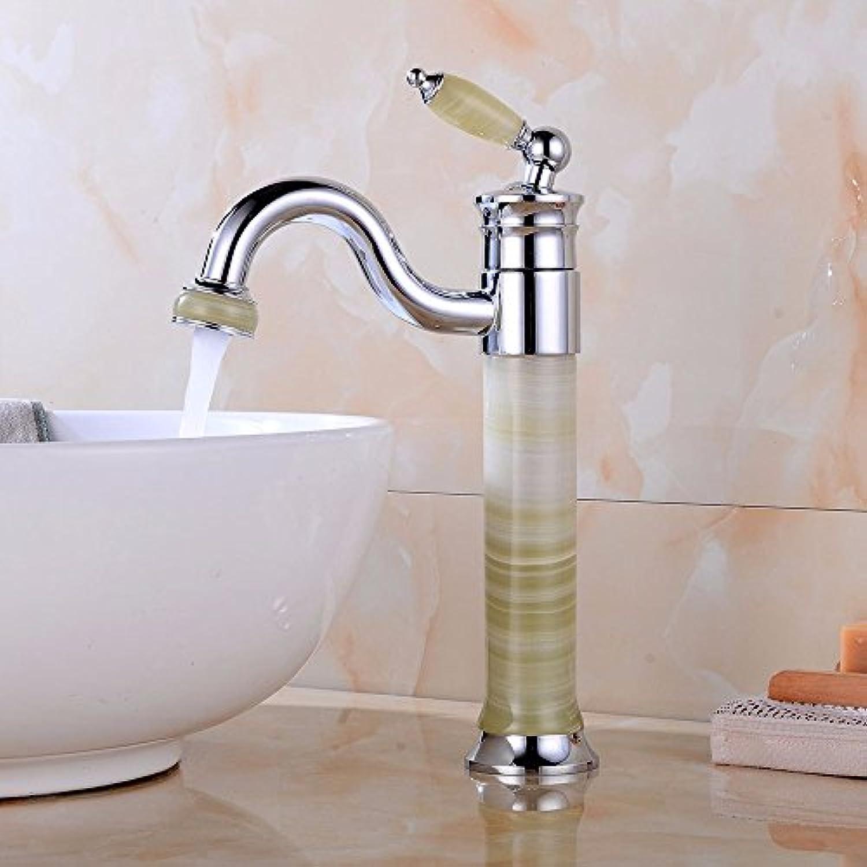Bijjaladeva Wasserhahn Bad Wasserfall Mischbatterie Waschbecken WaschtischModerne Plating Jade schwenken Wasserhahn Einloch Single Kaltes Wasser Keramik Ventilhebel