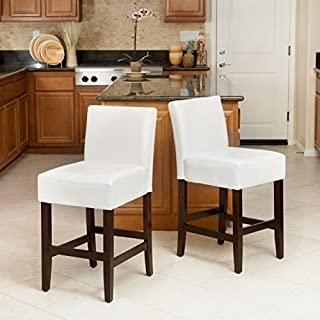 Christopher Knight Home 237522 Ivory Bonded Leather Counter Stools (Set of 2),