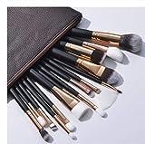 Juego de 15 brochas de maquillaje de color blanco para base líquida rubor fluorescente, pincel para sombra de ojos avanzado cepillo de maquillaje profesional, adecuado para profesionales y uso diario