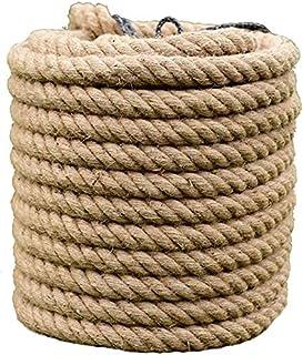 XBSXP Corde de Jute de Corde de Chanvre, Ficelle de Jute 16mm / 18mm / 20mm, Corde de Chanvre Naturel Ficelle résistante, ...