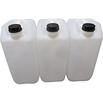 Brand New Empty 6 x 20 L 20 Litre Poly Plastic Jerry Can Drum Oil Water Fuel