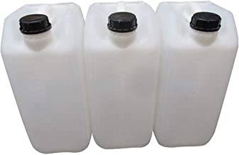 JERRY CAN 4 x 20 litre plus 2x taps water carrier home camping stackable approved clear//natural