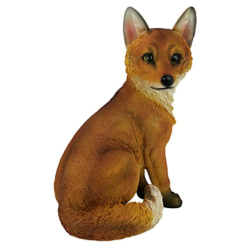 Design Toscano QL56241 Woodie the Woodland Fox Garden Animal Statue, 14 Inch, Polyresin, Full Color