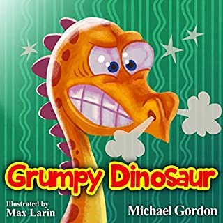 Grumpy Dinosaur audiobook cover art
