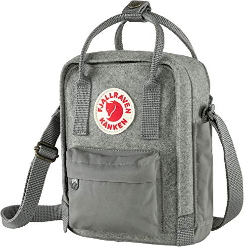 FJALLRAVEN Unisex_Adult Kånken Re-Wool Sling Shoulder Bag, Grey, One Size
