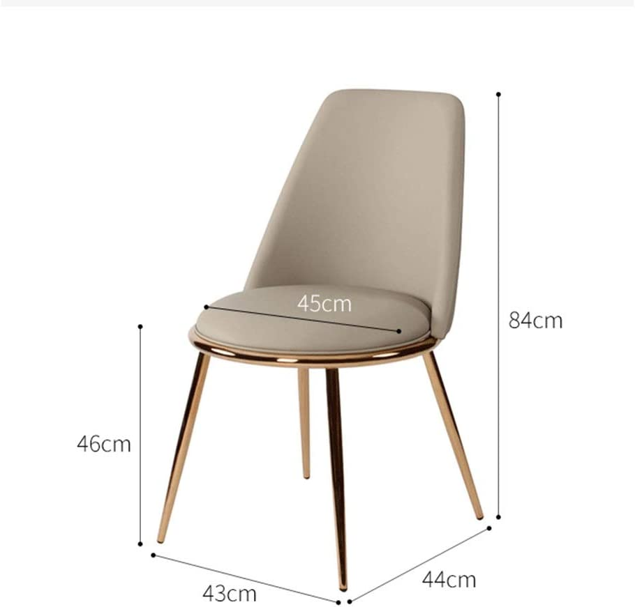 Maquillage Chaise Beauté Dressing Manucure Tabouret PU Restaurant Chaise dossier 84x43x44CM (Color : G) E