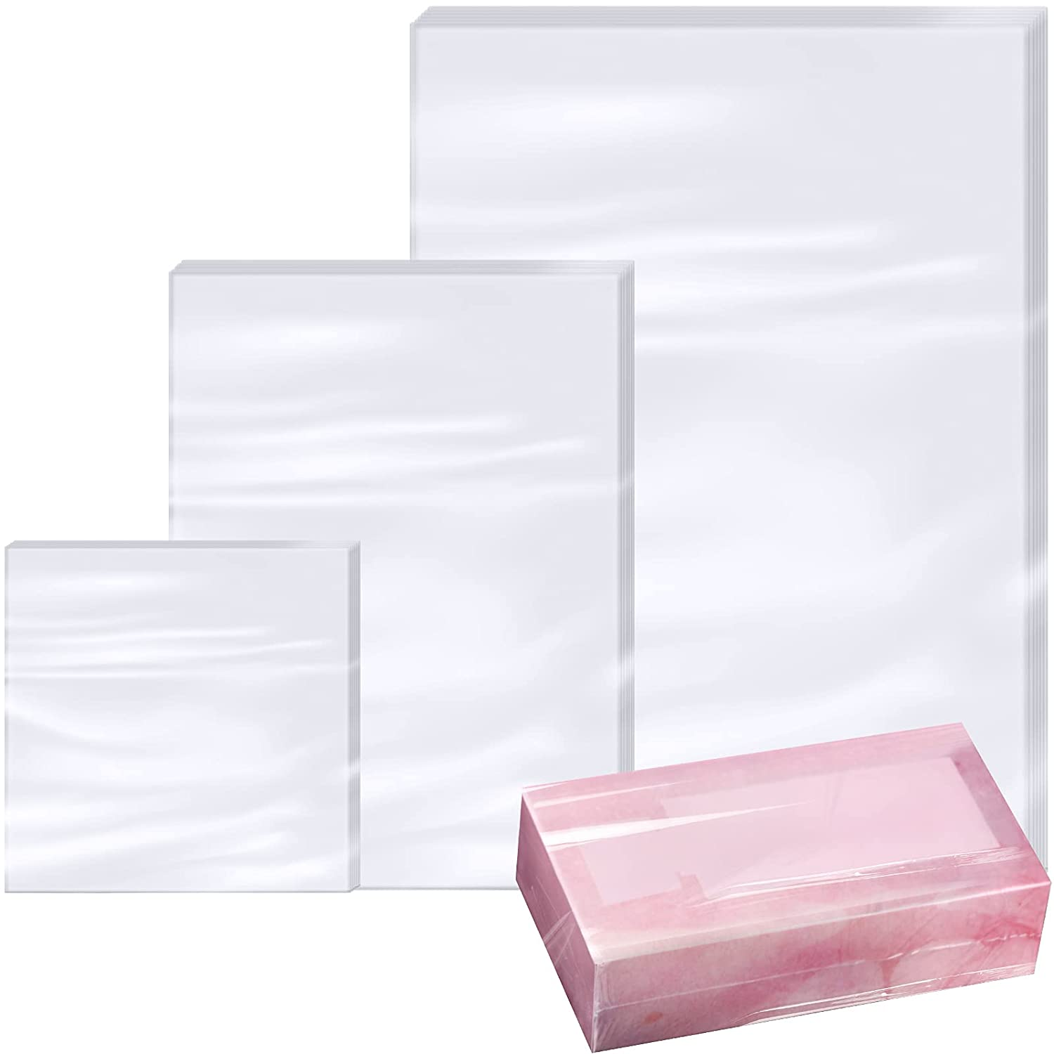 Max 45% OFF 300 Pieces Clear POF Shrink Wrap Sizes Max 56% OFF 3 Bags Heat Film Set