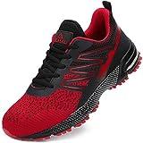 ucayali scarpe antinfortunistiche uomo antiscivolo scarpe lavoro con punta in acciaio traspiranti scarpe sportive di sicurezza rosso b gr.44
