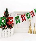 JINYANG Anhänger Weihnachtsszene Dekoration Sechs Flagge Vlies Santa Hanging Flag (Grün) (Color : Red)