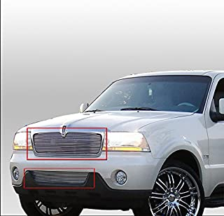 ZMAUTOPARTS For Lincoln Aviator Front Upper+Bumper Billet Grille Grill Insert Combo New