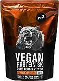 nu3 - Proteína vegana 3K - 1kg de fórmula - 70% de proteína a base de 3 componentes veg...