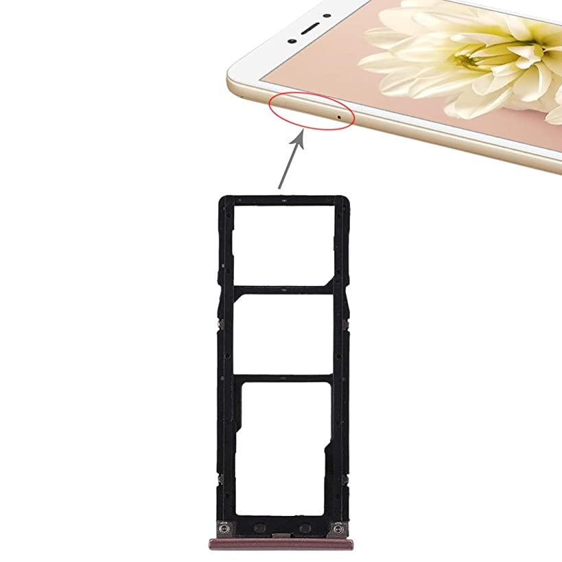 Cell Phone & Accessories 2 SIM Card Tray + Micro SD Card Tray for Xiaomi Redmi Note 5A(Grey) (Color : Rose Gold)
