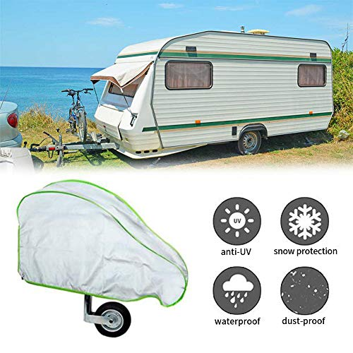SUPAREE Caravan Hitch Cover Universal Non-woven Fabric Trailer Towing Hitch Cover Waterproof and Breathable Trailers Cover with Straps and Fluorescent Strips