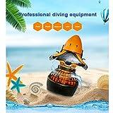 CCSU Eléctrico Scooter Subacuático,Hélice De Doble Velocidad,Buceo Sea Pool Scooter,para Deportes Acuáticos Piscina & Buceo & Snorkel Naranja