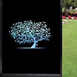 Película de vidrio esmerilado para ventana, árboles coloridos decorativos de arco iris para casa, oficina, baño, cocina, sala de reuniones, hotel, hospital, 45 x 60 cm