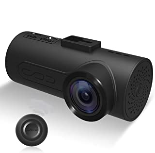 C1 Dash Cam HaloCam Car Camera 1080P Car Driving Recorder IMX323 Exmor CMOS G-Sensor Built-in WiFi Dashboard Camera with 165 Degree Wide Angle Lens Super Clear Vision Loop Recording