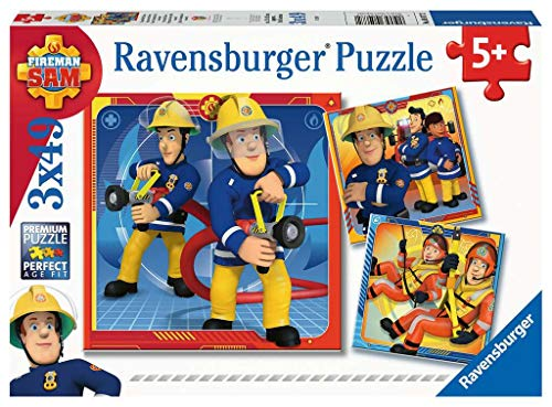Ravensburger Kinderpuzzle 05077 - Unser Held Sam - 3 x 49 Teile