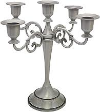 Viscacha Candelabro de metal para 5 velas – Portavelas para eventos formales, bodas, iglesias, decoración navideña, Hallow...