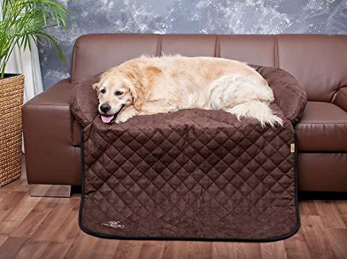 Knuffelwuff 12776 Sofaschutz und Hundematte, S-M, 85 x 70cm, berry braun