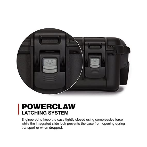 """Nanuk 904 waterproof hard case with foam insert - black 6 interior dimensions l8. 4"""" x w6. 0"""" x h3. 7"""" 
