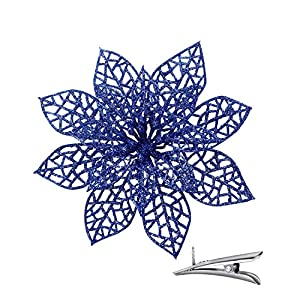 vensovo 24PCS Poinsettia Flower Christmas Decorations for Christmas Tree