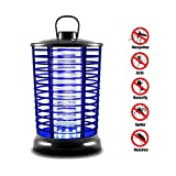 GXWLWXMS Electric Mosquito Lamp, Electric Flying Zapper with UV Light, Portable Standing Or