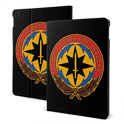 Fejarx U.S. Army Communications The New Ipad Eighth Generation (2020)/Seventh Generation (2019)/ 10.2-Inch Shell-Corner Protection Multi-Angle Split Case