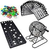 CNRGHS Bingo Set Metallkäfig, Käfig Game Set, Tabletop Puzzle Annual Partei Raffle Draw Tischspiele, Spielabende, High-End-Wohn-Und Wohltätigkeitsveranstaltungen, Wiederverwendbares Set Zubehör