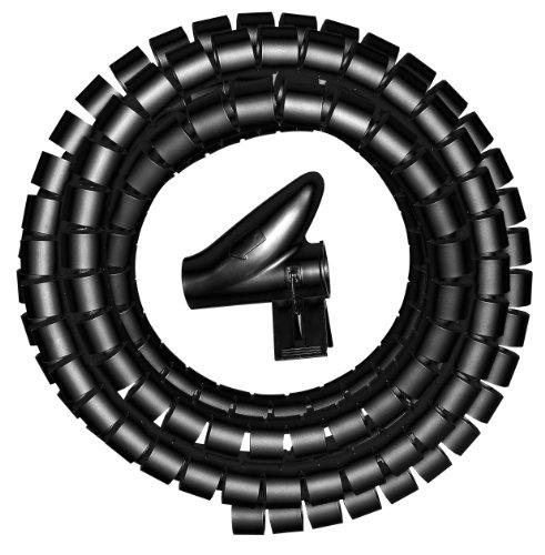 Kopp 359205042 Kabelorganisierer, 5 m, 15 mm schwarz