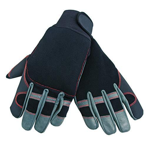 Oregon 295395 Gants de protection pour travail à la tronçonneuse TailleXL en cuir élastique 4directions (protection main gauche)