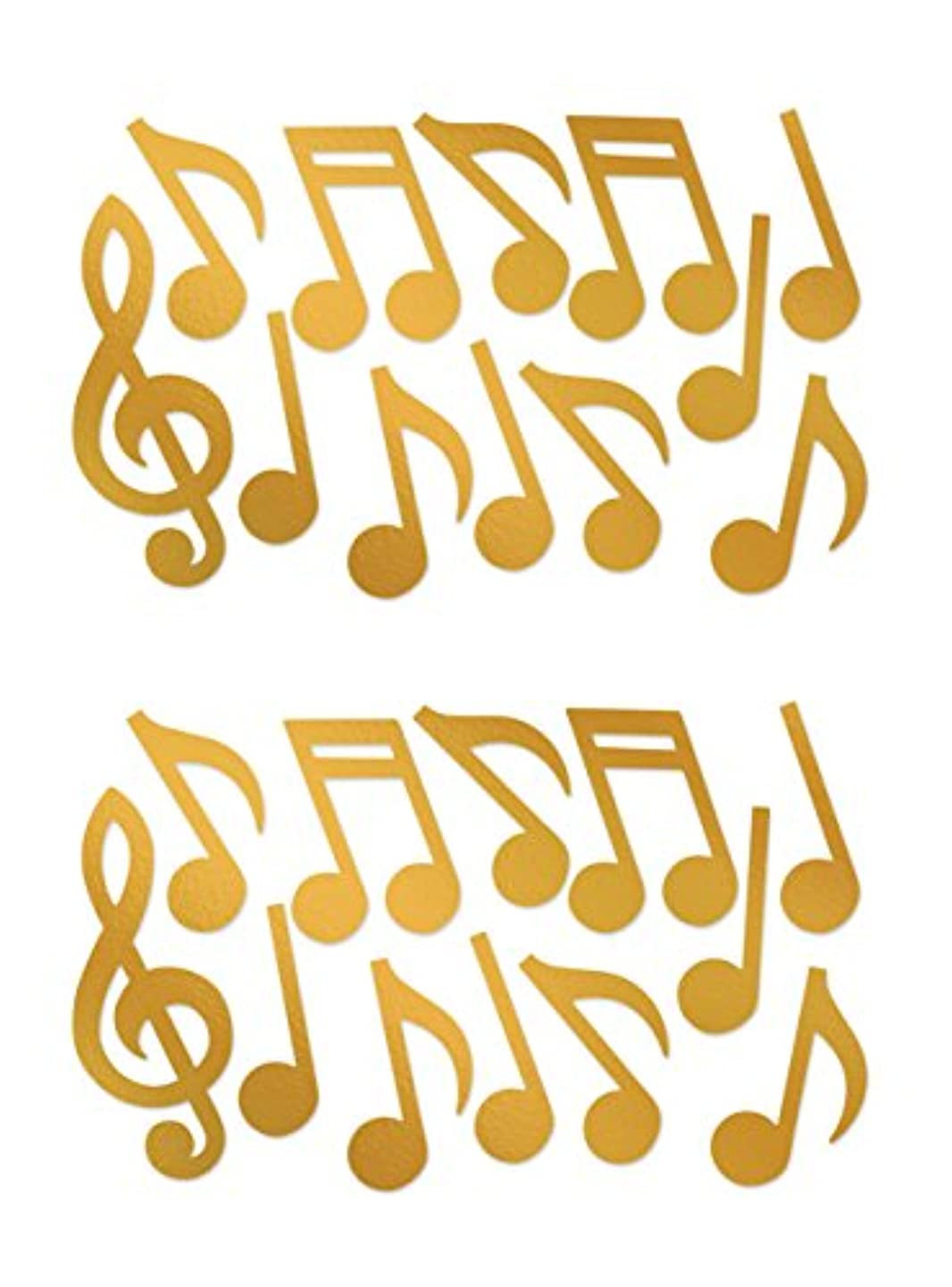 Beistle 55295-GD, 24 Piece Foil Musical Note Silhouettes, 12