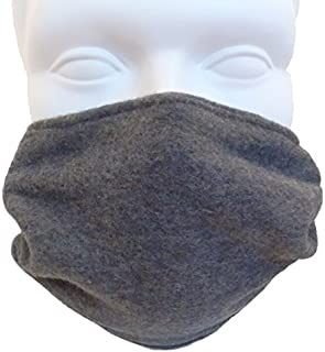 Double Layer Fleece Face Mask; Cold Weather COPD - Charcoal Gray