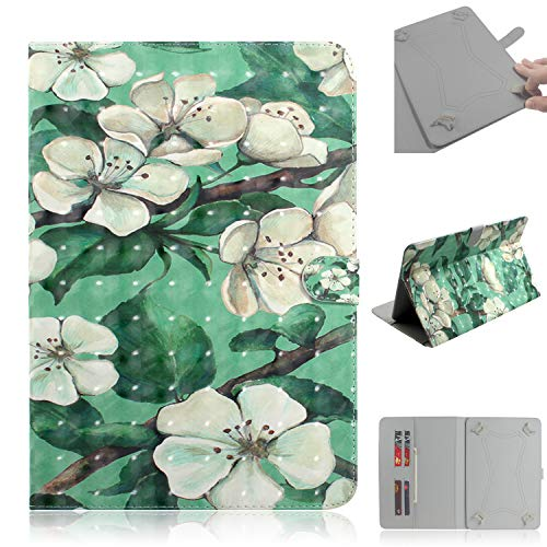 Uliking Universal Cases and Covers for 7.0 Inch Tablet, Case for Galaxy Tab 4, Galaxy Tab 3 Lite, RCA Voyager 7,etc, Cover for All 6.5-7.5 Inch Tablet, Watercolor Flower