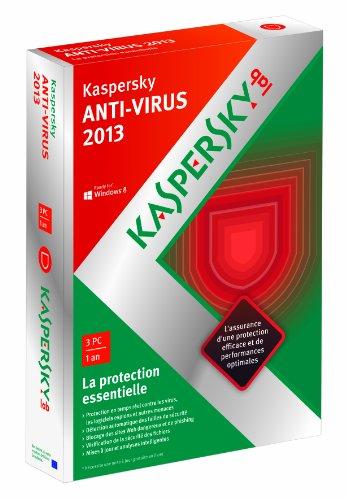 Kaspersky Lab Anti-Virus 2013, 3u, 1Y - Seguridad y antivirus (3u, 1Y, Base, 3 usuario(s), 1 Año(s), 480 MB, 512 MB, 800 MHz)