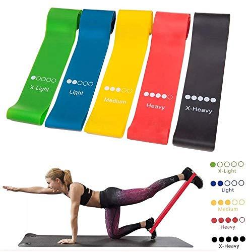 Bandas de ejercicio, Yoga fitness Fuerza Resistencia a la banda de plástico ejercicio de piernas Rehabilitación anillo de Entrenamiento de la resistencia de la banda tensión de la cinta Alta elasticid