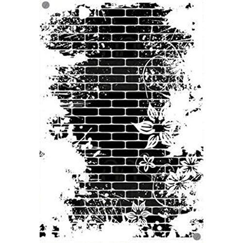 ER-TRYZT Fleur Décorée Mur Silicone Clear Stamp Tampon Transparent Bricolage Scrapbooking pour DIY Loisirs Créatifs Décoration