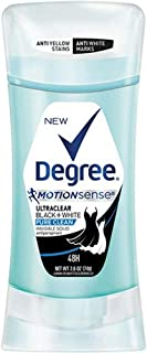 Degree UltraClear Black+White Pure Clean Antiperspirant Deodorant Stick, 2.6 oz