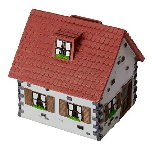 Unbekannt Haus Spardose in rot - Einfamilienhaus Sparschwein Sparbüchse