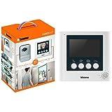BTicino 316913 Kit Videocitofono con 2 Fili, Display da 4.3' a Colori, Mono/Bifamiliare, Bianco + 332253 Display Aggiuntivo 4.3 Pollici per Kit Videocitofonici 2 Fili, Bianco Perla