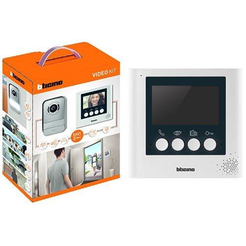Bticino - Manos libres dúplex kit de videoportero 2 hilos con monitor de color de 4.3 + 332 253 repuesto de pantalla, el cable de 4,3 pulgadas, blanco perla de los sistemas de acceso de vídeo, 2